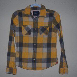 A&E plaid flannel type shirt small
